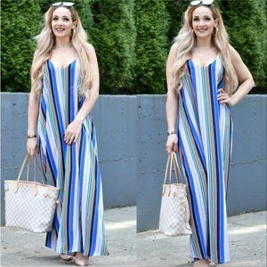 DAPHNE Maxi Dress -Striped